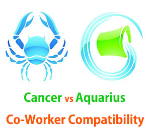 Cancer and Aquarius Co-Worker Compatibility
