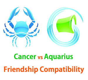 Cancer and Aquarius Friendship Compatibility