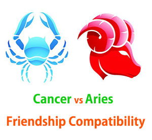 Cancer and Aries Friendship Compatibility