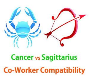 Cancer and Sagittarius Co-Worker Compatibility