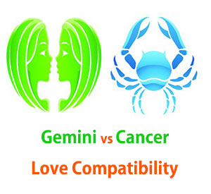 Gemini and Cancer Love Compatibility