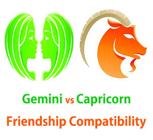 Gemini and Capricorn Friendship Compatibility