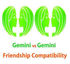 Gemini and Gemini Friendship Compatibility