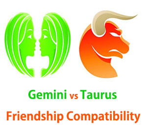 Gemini and Taurus Friendship Compatibility