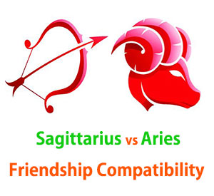Sagittarius and Aries Friendship Compatibility