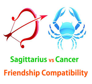 Sagittarius and Cancer Friendship Compatibility