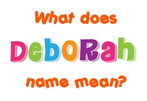 What does debra mean