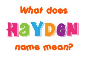 name hayden Gallery