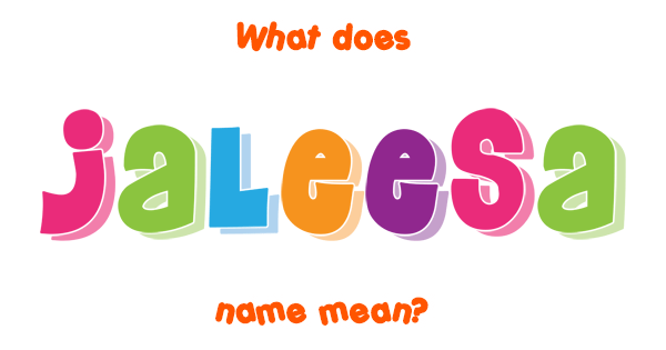 What does jaleesa mean