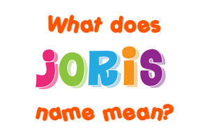Joris Name