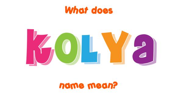 kolya name meaning of kolya. Black Bedroom Furniture Sets. Home Design Ideas