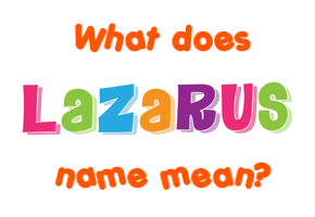 Lazarus Meaning In Tamil