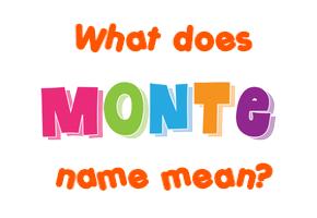 Monteo имя
