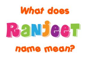 ranjeet name