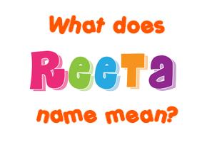 reeta name hd