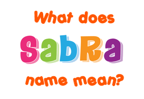 sabra name