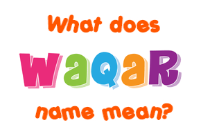 waqar name