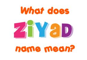 ziyad name